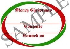 Merry Christmas Oval Canning Label #OV307