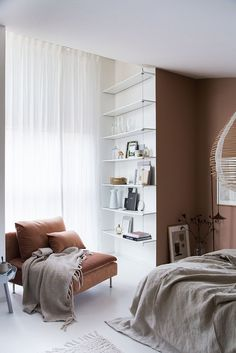 My Scandinavian Home: My bedroom make-over with @BemzDesign and a warm blend of chestnut, rust and off-white. Photo Niki Brantmark / Styling Genevieve Jorn.