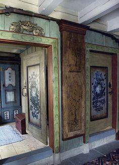 "norwegian painted doors- from ""An Adventure in Geilo""  Text: Kari Osvold Photo: Anette Nordstrom    Styling: Rikke Mørck and Cathrine Vågsmyr / Bolivar Home"