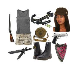 """Zombie Apocalypse outfit by shad0w-876 on Polyvore"