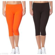 Capris Trendy Cotton Lycra Capris Leggings Fabric: Cotton Lycra Size: Up To 28 in to 36 in( Free Size) Length: Up To 34 in  Type: Stitched Description: It Has 2 Piece Of Women's Capris Pattern: Solid Country of Origin: India Sizes Available: Free Size, 24, 26, 28, 30, 32 *Proof of Safe Delivery! Click to know on Safety Standards of Delivery Partners- https://ltl.sh/y_nZrAV3  Catalog Rating: ★4 (2888)  Catalog Name: Alice Trendy Cotton Lycra Capris Combo Leggings CatalogID_136944 C79-SC1037 Code: 442-1110962-