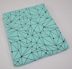 Dresówka pętelka Geometric: Błękitny Premium 270g/m2