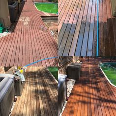 Timber deck restoration by Waterworx Pressure Cleaning visit us at www.waterworxpressurecleaning.com.au Deck Cleaning, Timber Deck, Restoration, Outdoor Decor, Home Decor, Decoration Home, Room Decor, Home Interior Design, Home Decoration