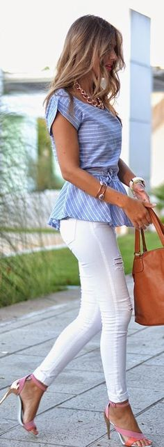 White pants outfits - how to style white pants 40 plus ideas for spring summer white pants outfits, ripped jeans, white pants black top, white pants with navy top, white pants with stripe top, white pants with nude top, white pants with louis vuitton bag, white pants with chanel, white pants with ysl, white pants with valentino bag, white pants in casual outfit, all white outfit, tammyhembrow, lydia e millen, chase amie, annabele fleur, mirabelove, amelie.xoxo, travel.inhershoes, olivia rink