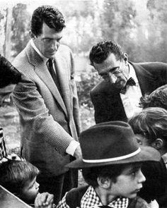 Dean and his dad Gaetano Crocetti