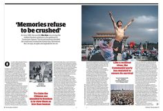 Guardian G2 inside spread: Tiananmen Square, 25 years on.