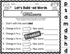 Teaching With Love and Laughter: Word Building