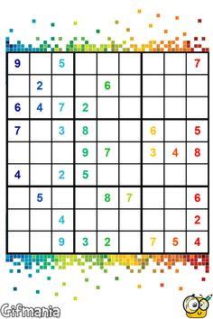 Sudoku simple #sudoku #pasatiempos #juegos