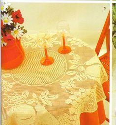 Crochê da Mag: Toalha de mesa em crochê filé