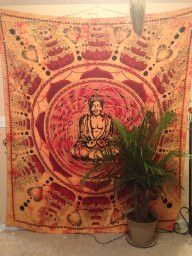 BUDDHA COTTON SCREEN PRINTED TAPESTRY & WALL HANGING TAPESTRY DORM DIVIDER