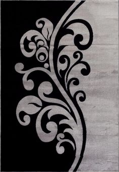 T1012 Gray Black White 7 10 x 10 2 Floral Oriental Area Rug Carpet