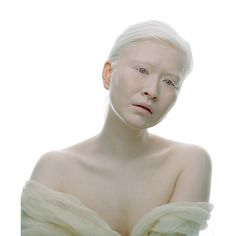 This is Connie Chiu. She is an albinistic model born in Hong Kong