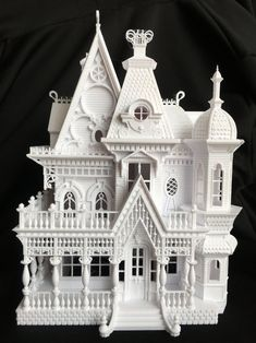 Victorian House Plans, Victorian Style Homes, Victorian Dollhouse, Gothic House, Victorian Gothic, Gothic Mansion, Dollhouse Kits, Modern Dollhouse, Vampire House