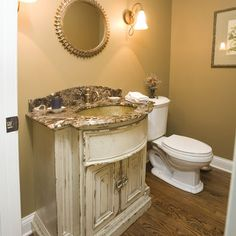 Rustic Painted Oak Design, Pictures, Remodel, Decor and Ideas - page 5