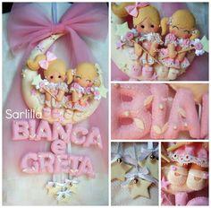 - Il blog di SARLILLA -: Fiocco nascita per Greta e Bianca