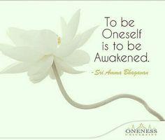 """Enseñanza 5/11 """"Ser uno mismo es estar despierto"""" Sri Amma Bhagavan"""