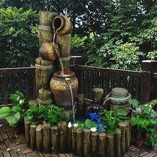 Ornamental grande fonte de água do jardim da água do tanque de peixes ornamentos abrindo presentes de artesanato criativo decorações do hotel(China (Mainland))