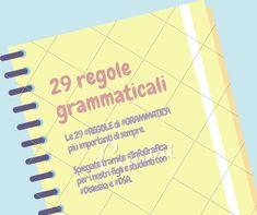 Le 29 #REGOLE di #GRAMMATICA più importanti di sempre, spiegate tramite…