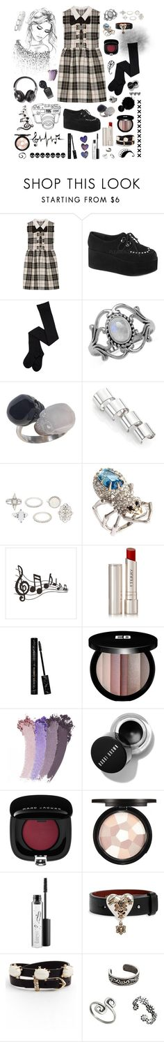 """""""every now and then he'd think about his life day-dreamin' just to pass the the time"""" by stopcallinme ❤ liked on Polyvore featuring Miu Miu, Demonia, Maison Margiela, Charlotte Russe, Alexis Bittar, By Terry, Dolce&Gabbana, Edward Bess, Gucci and Marc Jacobs"""