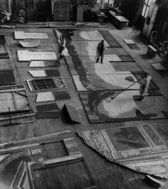 barcarole:  Manufacturing scenery for The Cabinet of Dr. Caligari in 1920.