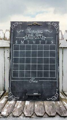 LARGE Wooden CHALK BOARD Calendar Chalk Art by MyPrimitiveBoutique