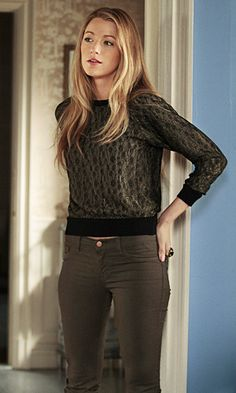 4x20. Barney's COOP lace sweater, J Brand 10'skinny twill in khaki