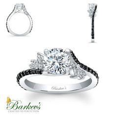Barkeys black diamond engagement ring