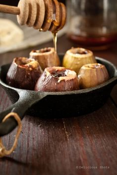 Figs stuffed with blue cheese and honey