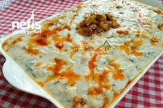 Ezme Karnabahar Salatası Tarifi Turkish Kitchen, Salad Bar, Cheeseburger Chowder, Quiche, Salad Recipes, Mashed Potatoes, Macaroni And Cheese, Salads, Soup
