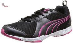 Puma Flextrainer Ombre Wn's, Chaussures de fitness femme - Noir (Black/Fuchsia Purple), 36 EU (3.5 UK) - Chaussures puma (*Partner-Link)