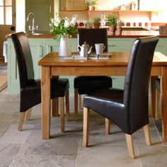 Reclaimed Oak 125cm-165cm Dining Table and 4 Chairs including free delivery (908.599) | Pine Solutions