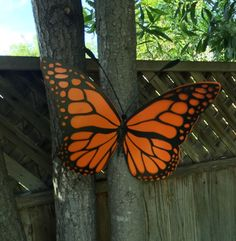 Garden Butterfly, Butterfly Yard Art, Monarch Butterfly Art for Garden by CoastalIronCrafts on Etsy