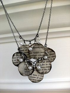 jewelry from old books?? love it! diy-projects