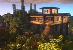 Minecraft House Plans, Minecraft Mansion, Minecraft Houses Survival, Easy Minecraft Houses, Minecraft House Tutorials, Minecraft City, Minecraft Room, Minecraft House Designs, Minecraft Construction