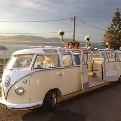 A fun mode of transport for your #wedding! - Kombi Limousines. For more fun wedding inspiration visit www.modernweddingblog.com.