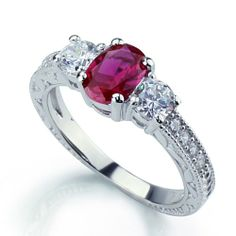 14K White Gold Rhodium Plated Sterling Silver Wedding & Engagement Ring Sterling Silver 3Stone Vintage Style Engagement Ring w/ Oval Cut (7x5mm) Ruby Red Color & Brilliant Cut CZ Stones For Women 7MM ( Size 6 to 9) Size 6 Double Accent,http://www.amazon.com/dp/B006RNPEVE/ref=cm_sw_r_pi_dp_768Esb028N50ETHD