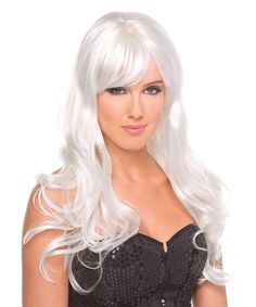 Another great find on #zulily! Be Wicked! White Burlesque Wig by Be Wicked! #zulilyfinds