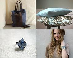 geometric blues by Julie on Etsy--Pinned with TreasuryPin.com
