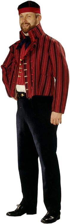 Etelä-Savon miehen kansallispuku - South Savo man in national costume. Folk Dance, Folk Costume, Black White Red, Dance Costumes, Traditional Outfits, Fancy Dress, Nostalgia, Men Sweater, Folklore