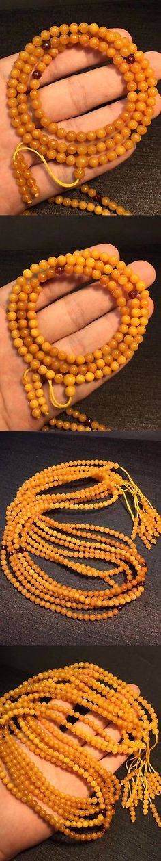 Amber 10191: 108 Beads Genuine White Round Beads Baltic Amber Necklace Egg Yolk Butterscotch -> BUY IT NOW ONLY: $32.99 on eBay!