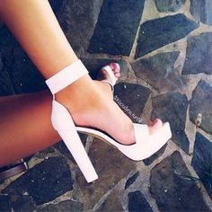 High nude heels