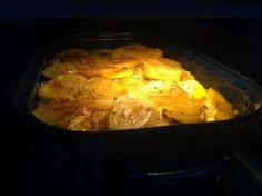 Fotorecept: Najlepšie francúzske zemiaky Pork, Veggies, Cooking Recipes, Meat, Chicken, Kale Stir Fry, Vegetable Recipes, Vegetables, Chef Recipes