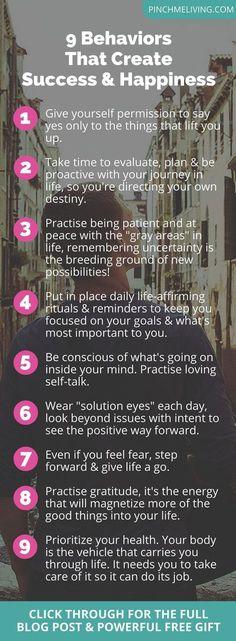 9 Behaviors That Create Success & Happiness