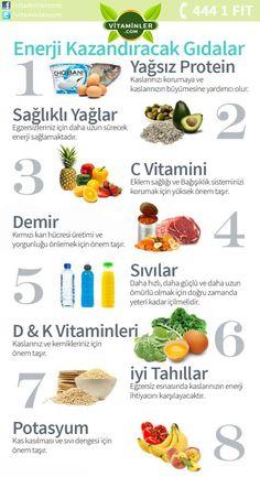 Siz de kendinizi halsiz ve yorgun hissediyorsanız resimdeki besinlerden yardım alabilir, ayrıca bu besinlerden yeterince tüketemiyorsanız sitemizden size en uygun ürünlerimizi inceleyebilirsiniz. #metabolizma #destekleyici #besin #sebze #meyve #vitamin #beslenme #bağışıklıksistemi #vitamin #balıkyağı #omega3 #sağlık #diyet #health #sağlıklıyaşam #antioksidan #bitkisel #doğa #cvitamini #eklem #eklemağrısı #mineral #sindirim #probiyotik #glukozamin Kendini İyi Hisset.