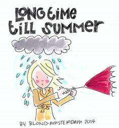 Long time till summer - by Blond Amsterdam Blond Amsterdam, Amsterdam Winter, Amsterdam Art, Tarjetas Diy, Umbrella Art, Digi Stamps, Encouragement Quotes, Cute Photos, Moleskine