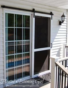 Planted and Blooming Girl : Sliding Screen Door