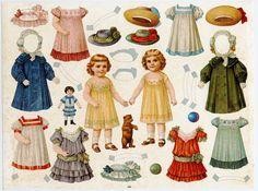 Nostalgische Modepuppen um 1900 Sammleredition 4 große Ausschneidebogen Reprint   eBay