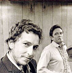 Bob Dylan and Johnny Cash. A great photo, very rock and roll!