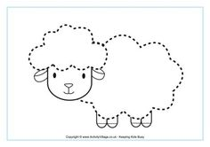 Sheep tracing picture for We went Visiting week