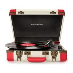 Executive USB Turntable Red